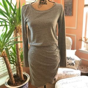 Never Worn Grey Cotton Long sleeves Dress S